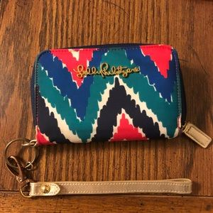 Multicolored Lilly Pulitzer wristlet